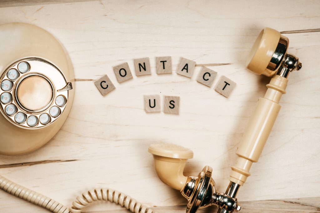 Contact us, contact, vintage telephone