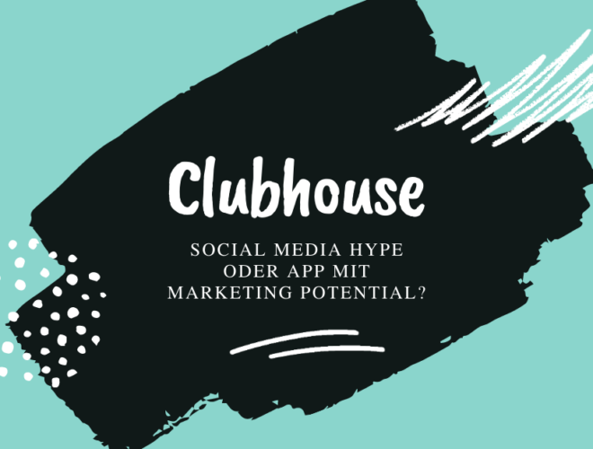 Clubhouse, Social media Hype oder App mit marketing potential?, blau, schwarz, weir