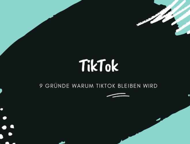 TikTok, 9 Gründe warum TikTok bleiben wird, schwarz, weiß, blau